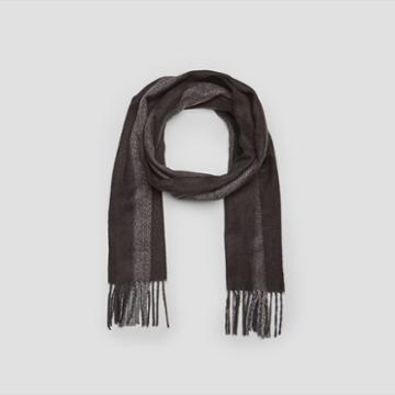 Kenneth Cole New York Wide Vertical Stripe Scarf - Flame
