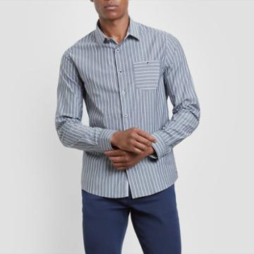 Kenneth Cole New York Long-sleeve Bold Stripe Shirt - Black