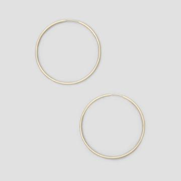 Kenneth Cole New York Large Gold-tone Wire Hoop Earring - Shiny Gold