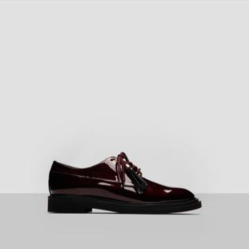 Kenneth Cole New York Annie Patent Leather Shoe Flat - Shoe - Wine
