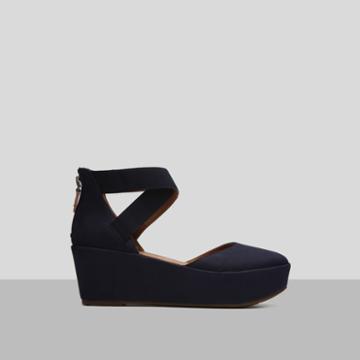 Gentle Souls By Kenneth Cole Nyssa Nubuck Platform Zip Up Flat - Shoe - Navy