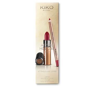 Kiko - Arctic Holiday Lip Kit - 113 Strawberry Rose