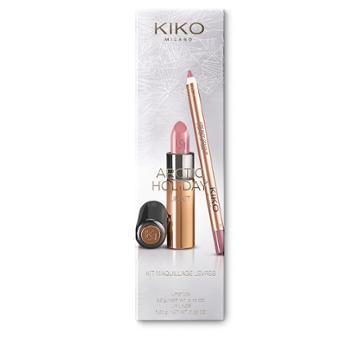 Kiko - Arctic Holiday Lip Kit - 107 Mocaccino