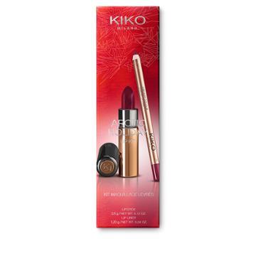 Kiko - Arctic Holiday Lip Kit - 128 Marsala