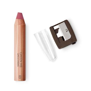 Kiko - Green Me Lips&cheeks Pencil - 03 Mauve Pulse