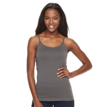 Petite Apt. 9® Seamless Cami, Women's, Size: Ps/pm, Dark Grey