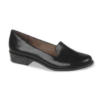 Naturalsoul By Naturalizer Villagio Wide Smoking Flats - Women, Size: 8 Wide, Black