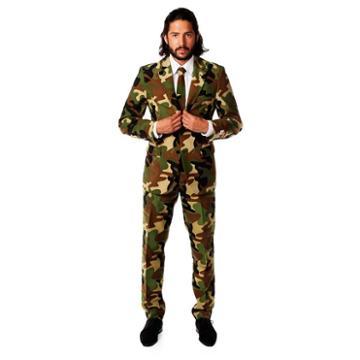 Men's Opposuits Slim-fit Commando Camouflage Suit & Tie Set, Size: 42 - Regular, Ovrfl Oth