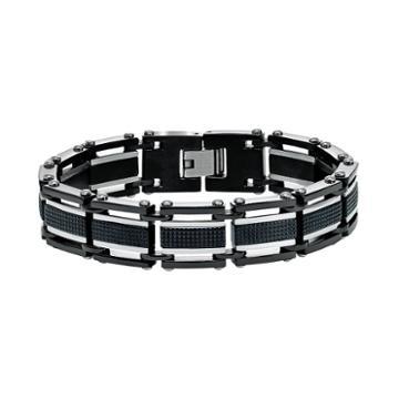 Axl By Triton Men's Two Tone Stainless Steel Bracelet, Silver