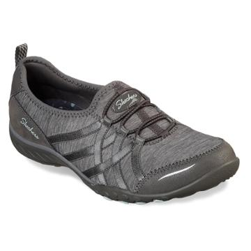 Skechers Relaxed Fit Breathe Easy Untroubled Women's Shoes, Size: 9, Dark Grey