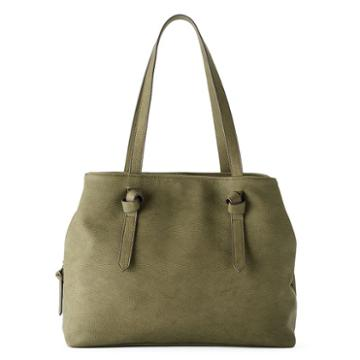 Sonoma Goods For Life™ Knotted Handle Triple Entry Tote, Women's, Dark Green