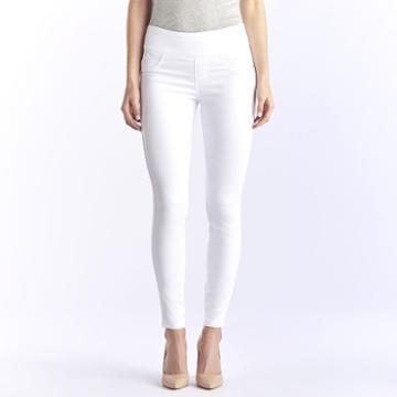 Women's Rock & Republic® Fever Denim Rx™ Pull-on Jean Leggings, Size: 2 T/l, White