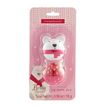Simple Pleasures 2-pc. Berry Frost Polar Bear Lip Balm Critter Pods, Multi