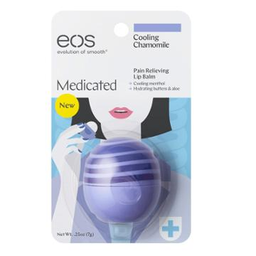 Eos Medicated Cooling Chamomile Pain Relieving Lip Balm, Multicolor