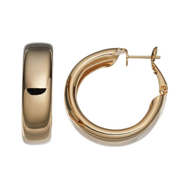 14k Gold-plated Hoop Earrings, Women's, Yellow