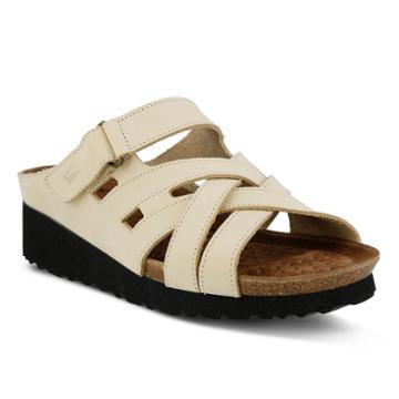 Spring Step Sabra Women's Wedge Footbed Sandals, Size: 38, Lt Beige
