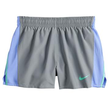 Girls 7-16 Nike Dri-fit Black Running Shorts, Size: Small, Grey