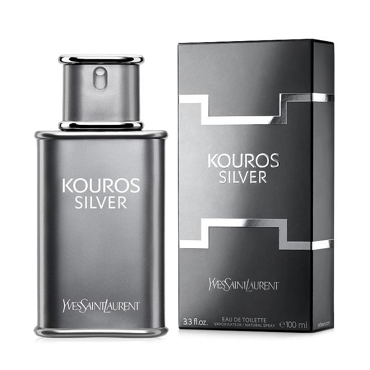 Kouros Silver By Yves Saint Laurent Men's Cologne, Multicolor