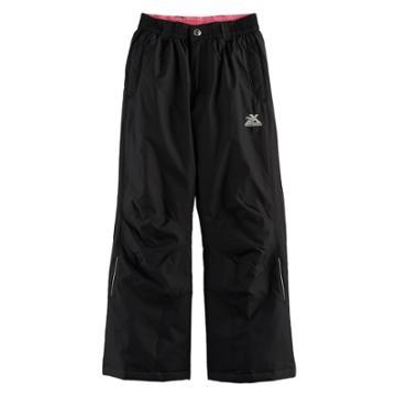 Girls 7-16 Zeroxposur Heather Heavyweight Snow Pants, Size: 7-8, Black