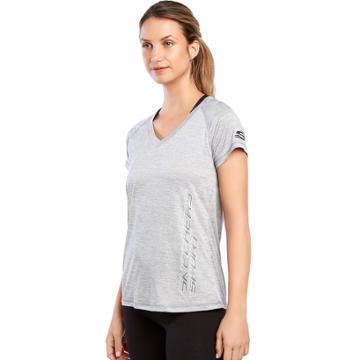 Women's Skechers Performance Raglan Sleeve Tee, Size: Xl, Med Grey
