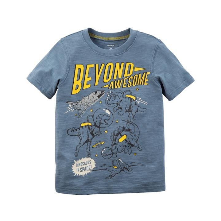 Boys 4-8 Carter's Beyond Awesome Dinosaur Graphic Tee, Size: 6, Grey