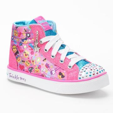 Skechers Twinkle Toes Shuffles Breeze 2.0 Girls' High-top Light Up Sneakers, Size: 13, Blue
