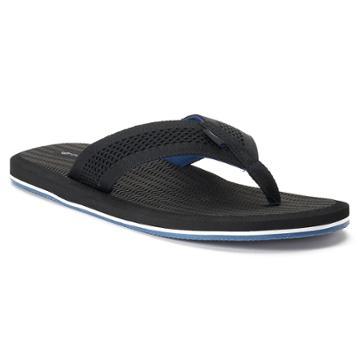 Men's Dockers Mesh Upper Flip-flop Sandals, Size: Large, Black