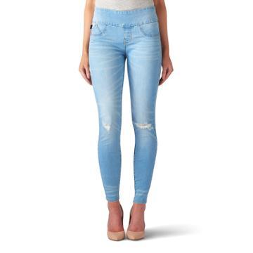 Women's Rock & Republic® Fever Denim Rx™ Pull-on Jean Leggings, Size: 18 Avg/reg, Light Blue
