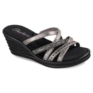 Skechers Rumblers Wave Women's Wedge Sandals, Size: 9, Light Grey