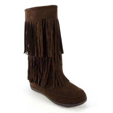 Corkys Mohawk Women's Fringed Boots, Size: 9, Brown