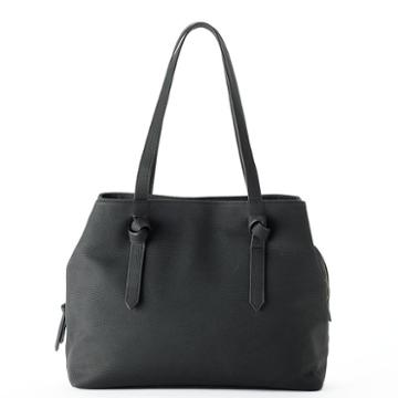 Sonoma Goods For Life™ Knotted Handle Triple Entry Tote, Women's, Black