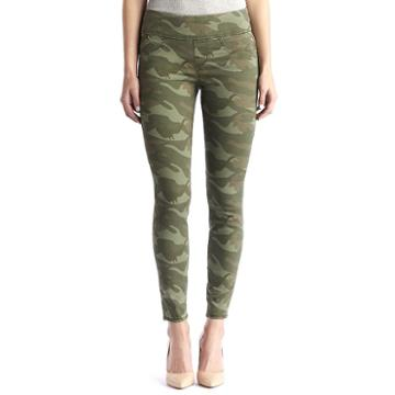 Women's Rock & Republic® Fever Denim Rx™ Pull-on Jean Leggings, Size: 4 - Regular, Green (camo)