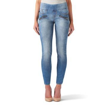 Women's Rock & Republic® Fever Denim Rx™ Pull-on Jean Leggings, Size: 14 T/l, Med Blue