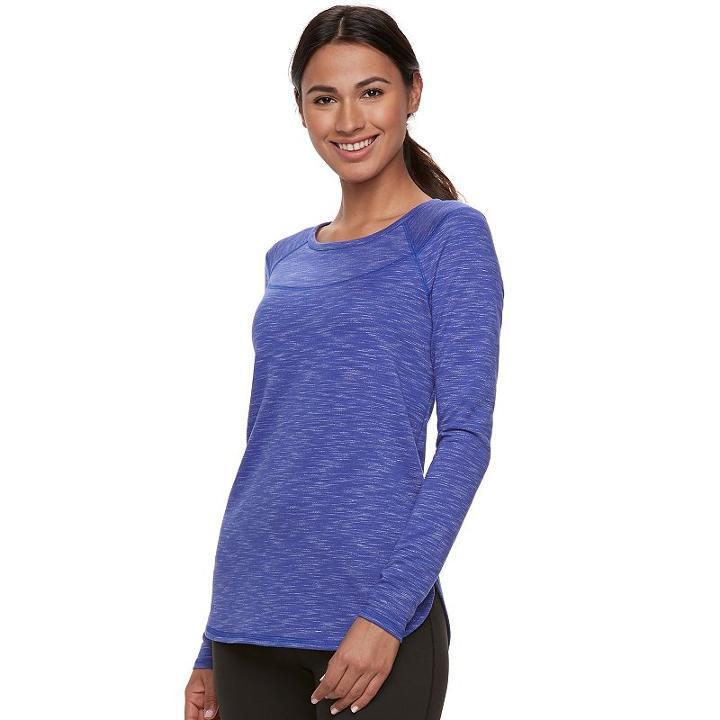 Women's Tek Gear® Marled Tee, Size: Xl, Drk Purple