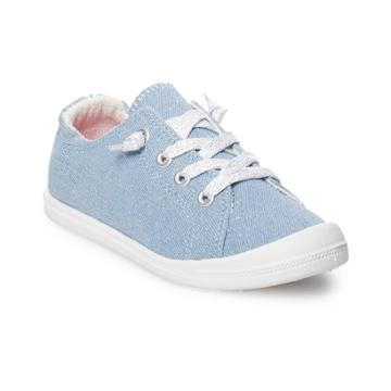 Madden Girl Brightt Girls' Sneakers, Size: 13, Denim Sparkle