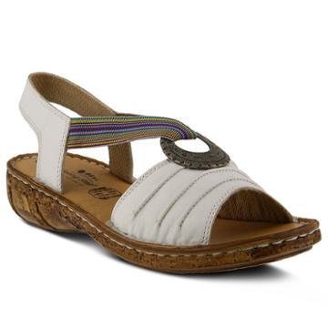 Spring Step Karmel Women's Wedge Sandals, Size: 36, White