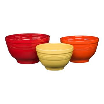 Fiesta 3-pc. Baking Bowl Set, Multicolor