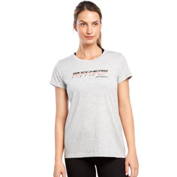 Women's Skechers Shadow Logo Graphic Tee, Size: Small, Med Grey