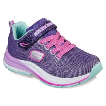 Skechers Double Strides Duo Dash Girls' Sneakers, Size: 2, Purple Turquoise