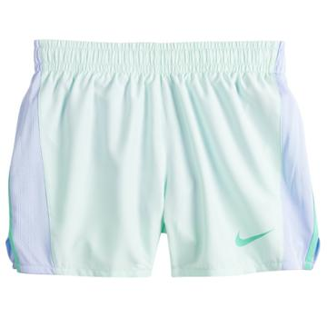 Girls 7-16 Nike Dri-fit Black Running Shorts, Size: Small, Green