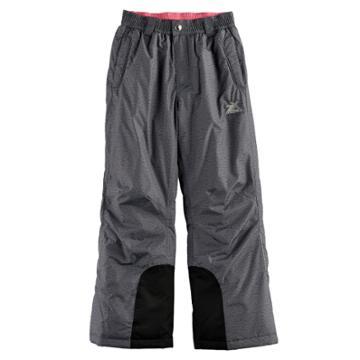 Girls 7-16 Zeroxposur Heather Heavyweight Snow Pants, Size: 14, Grey Other