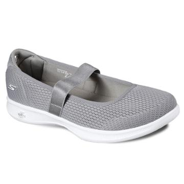 Skechers Go Step Lite Blooming Women's Mary Jane Shoes, Size: 8, Med Grey