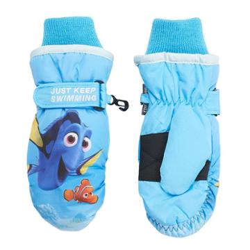 Disney / Pixar Finding Dory Girls 4-6x Nemo Just Keep Swimming Ski Mittens, Girl's, Blue
