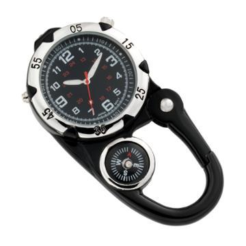 Men's Carabiner Watch, Size: Large, Black