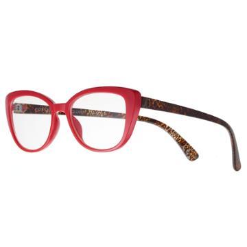 Women's Modera By Foster Grant Camilla Leopard Oversized Cat-eye Reading Glasses, Multicolor