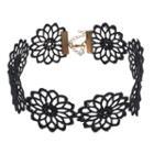 Mudd® Black Macrame Flower Choker Necklace, Women's