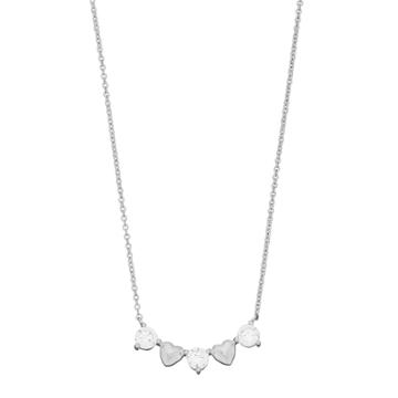 Brilliance Heart Necklace With Swarovski Zirconia, White