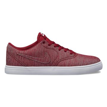 Nike Sb Check Solarsoft Canvas Premium Men's Skate Shoes, Size: 8.5, Red
