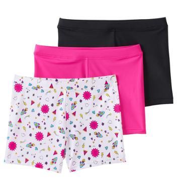 Girls 4-12 Maidenform 2-pack + 1 Bonus Playground Pals Bike Shorts, Size: Small, Multi Icon Sketches