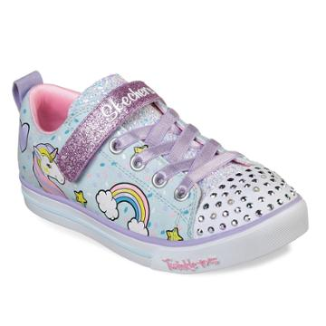 Skechers Twinkle Toes Shuffles Sparkle Lite Unicorn Girls' Light Up Shoes, Size: 12, Med Red